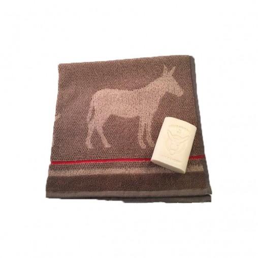 Set cadeau carré éponge âne naturel