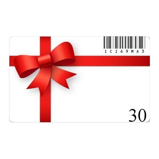 Carte cadeaux 30€