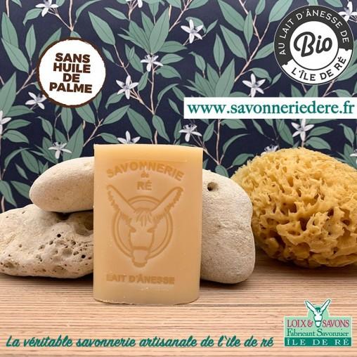 Savon au lait d'ânesses - 100 g - savonnerie artisanale de l'ile de ré
