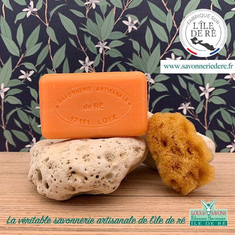 Savon parfum abricot 100 g de la savonnerie de l'ile de ré