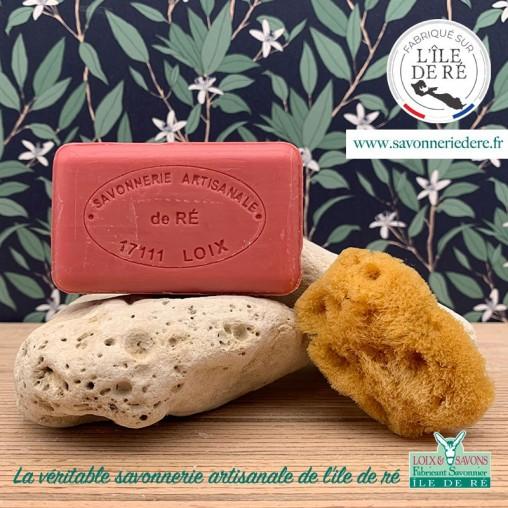 Savon parfum fraise 100 g de la savonnerie de l'ile de ré