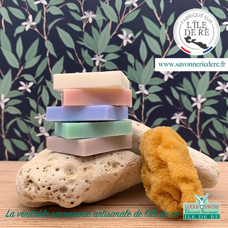 Lot de 5 savons invité carré 5 x 25 g de la savonnerie de l'ile de ré