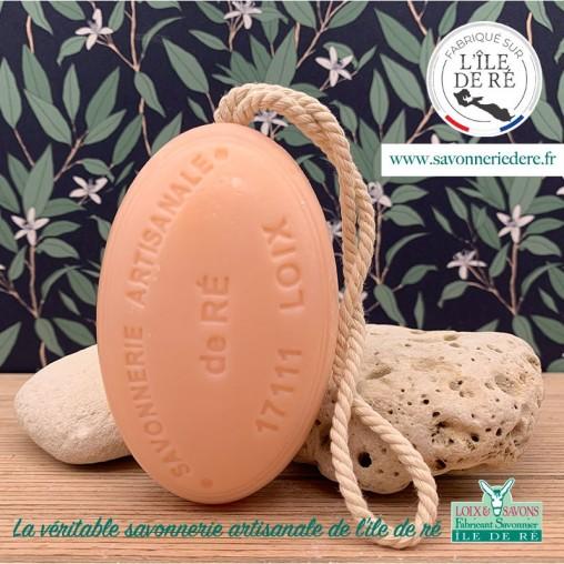 Savon ficelle parfum chèvrefeuille 200 g - Savonnerie de Ré de l'ile de re