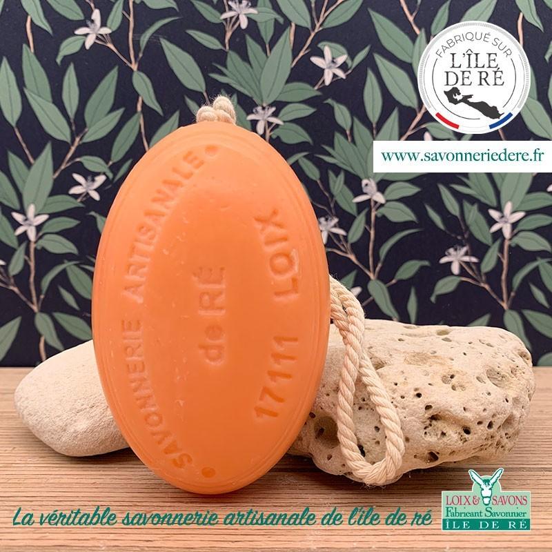 Savon ficelle parfum abricot 20 g - Savonnerie de Ré de l'ile de re