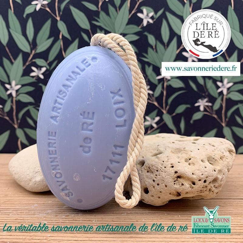 Savon ficelle parfum lavande 200g - Savonnerie de Ré de l'ile de re