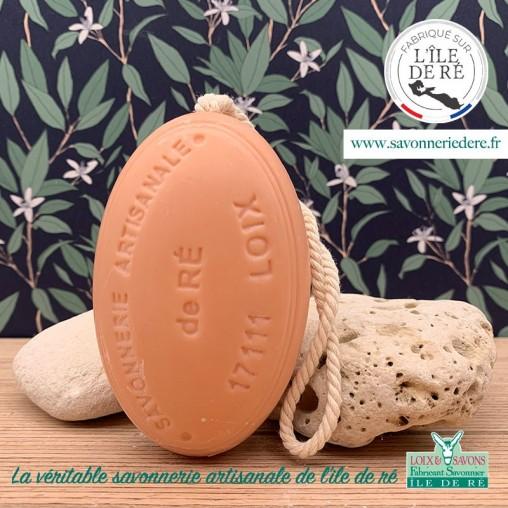 Savon ficelle parfum melon charentais 200g - Savonnerie de Ré de l'ile de re