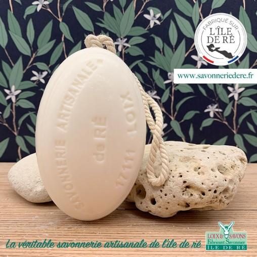 Savon ficelle parfum noix de coco 200g - Savonnerie de Ré de l'ile de re