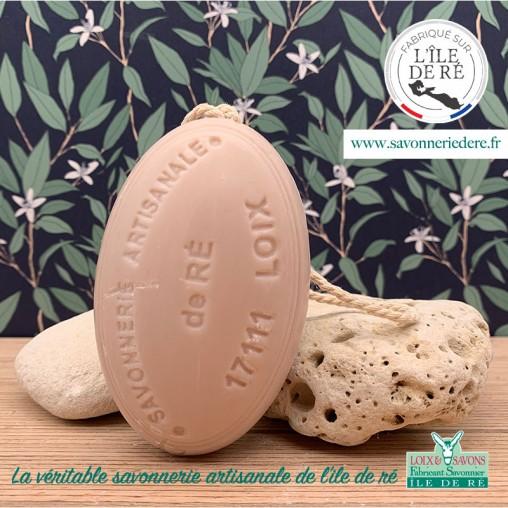 Savon ficelle parfum poudre d'amour 200g - Savonnerie de Ré de l'ile de re