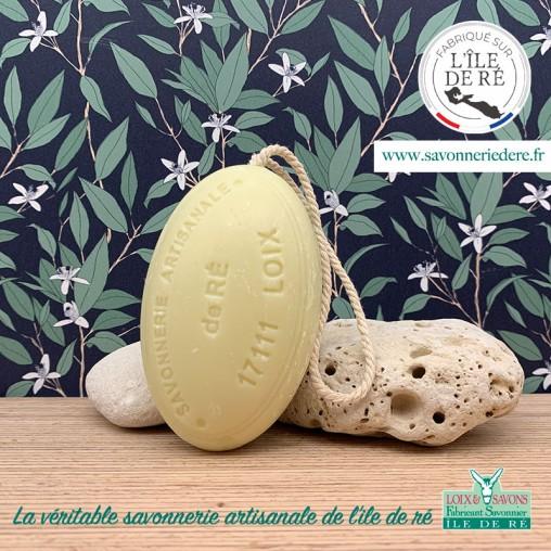Savon ficelle parfum mimosa 200g - Savonnerie de Ré de l'ile de re