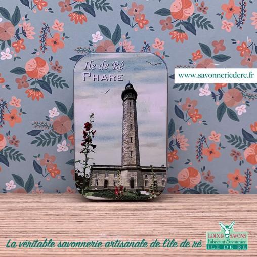 Boîte en métal phare de ré - Savonnerie artisanale de l'ile de ré