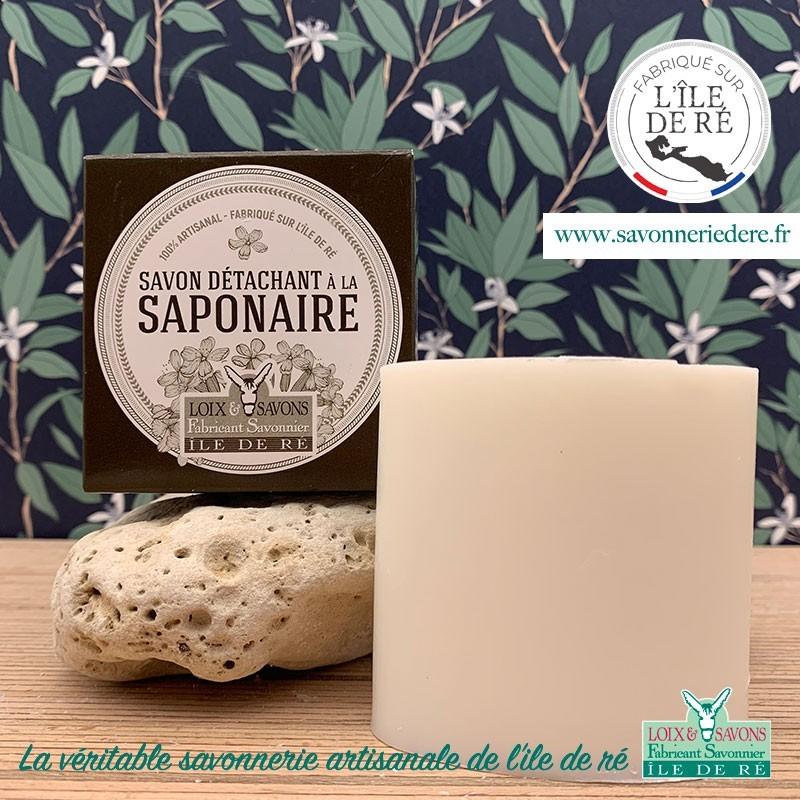 Savon détachant saponaire - 150 g - savonnerie artisanale de l'ile de ré