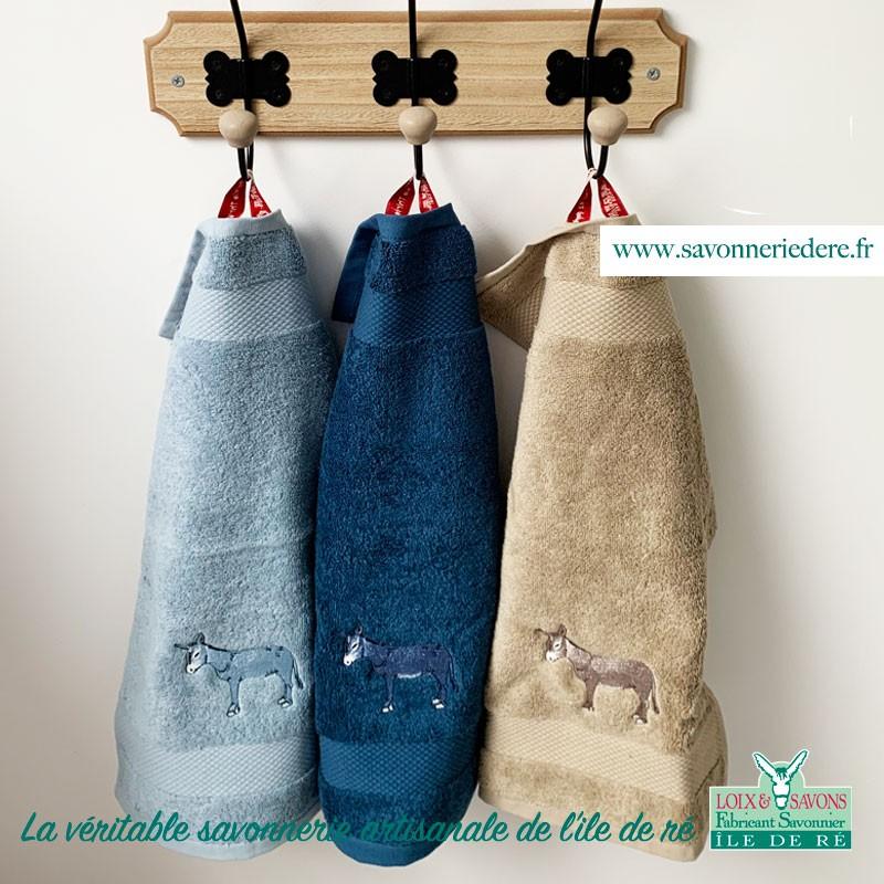 Serviette invité prospère 30 x 50 cm - savonnerie artisanale de l'ile de ré