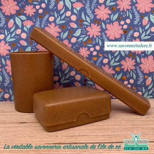 Lot accesoires de toilettes biodégradable - Savonnerie artisanale de l'ile de ré