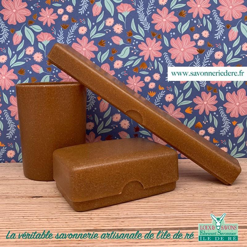 Lot accessoires toilette biodégradable - Savonnerie artisanale de l'ile de ré
