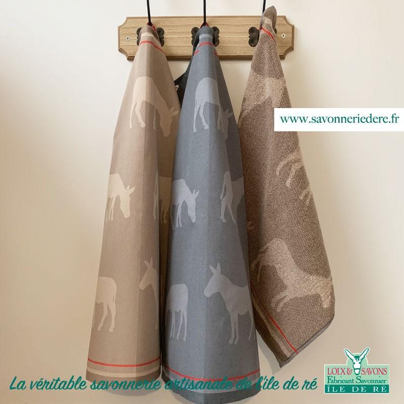 Torchon tissus et éponge - savonnerie artisanale de l'ile de ré