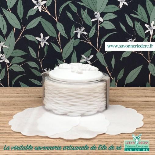 Feuilles de savon jasmin-savonnerie de l'ile de ré-loix et savons