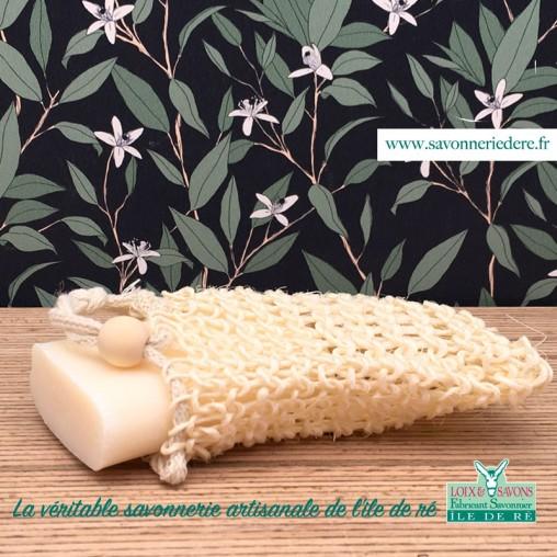 Sac à savon sisal - savonnerie de l'ile de ré loix et savons