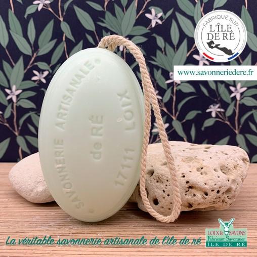 Savon ficelle Ô d'agrumes - savonnerie de l'ile de ré - loix et savons