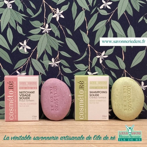 Pack découverte : shampoing solide + nettoyant visage