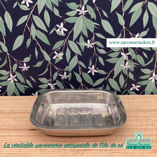 porte savon acier inoxydable - savonnerie de l'ile de ré