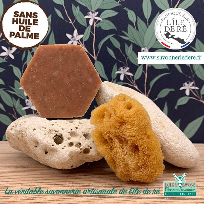 Savon artisanal exfoliant propolis/prune 100g - sans huile de palme