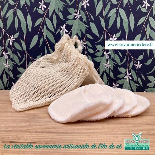 Disque demaquillant lavable bambou LOIX ET SAVONS