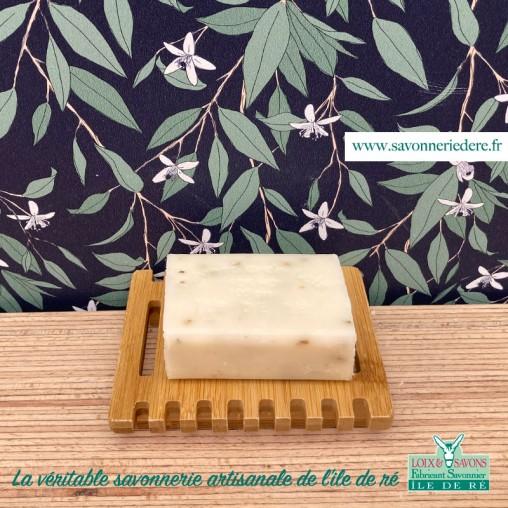 Porte savon carré bambou savonnerie de l'ile de re