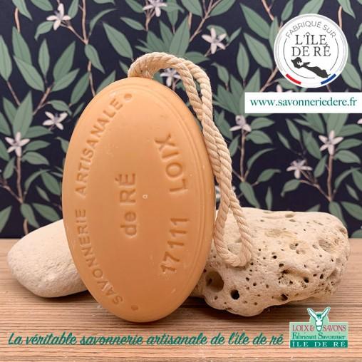 Savon artisanal ficelle agrume 200g