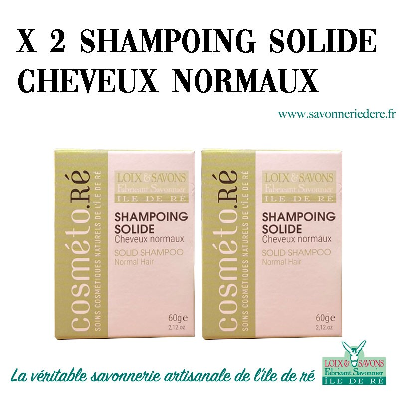 Lot shampoing solide cheveux normaux
