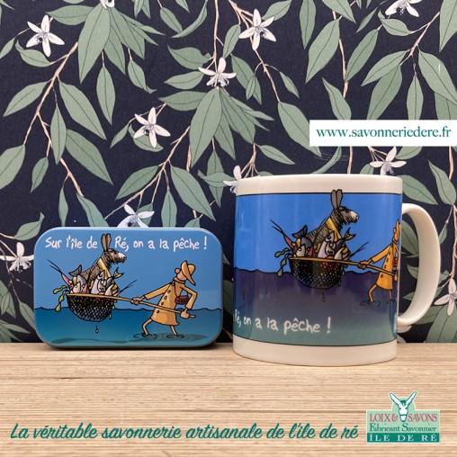 """Mug """" Sur l'ile de ré, on a la pêche """""""