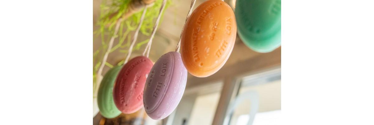 Savon ficelle artisanal 200 g / Savonnerie artisanale de l'ile de ré / Loix et savons
